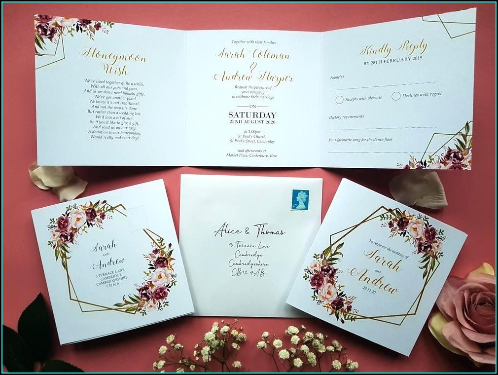 Tri Fold Invitation Envelopes