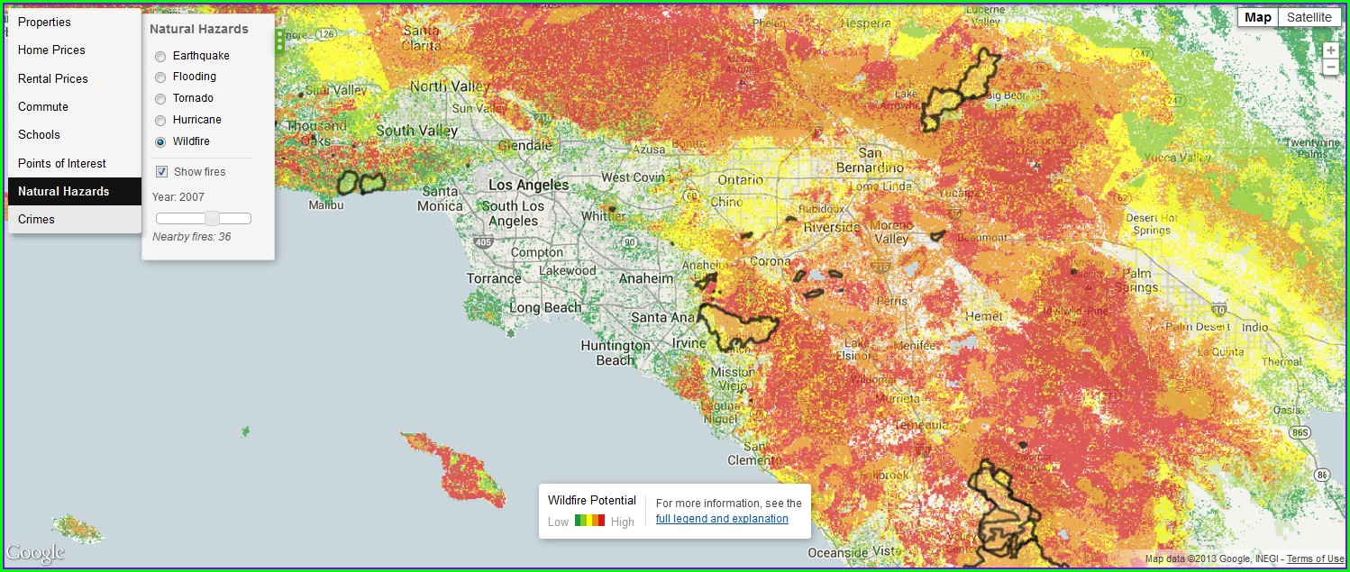Trulia Heat Map California