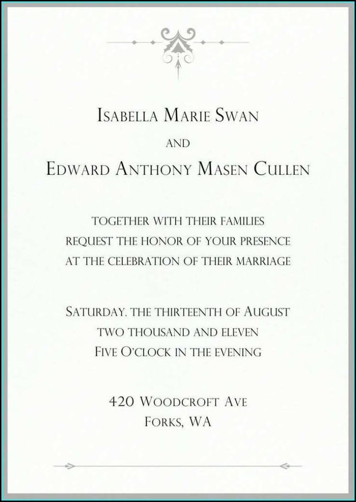 Twilight Wedding Invitation Template