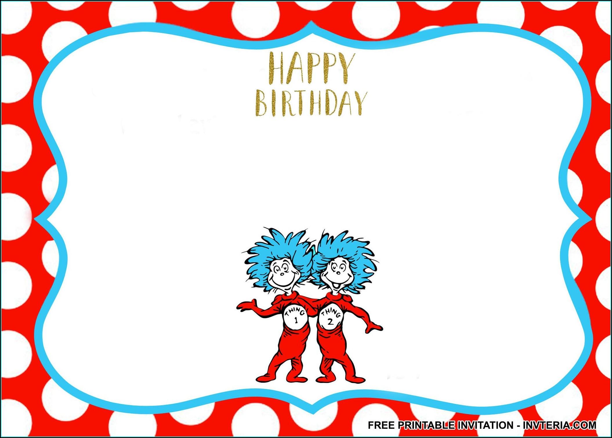 Twins 2nd Birthday Invitations