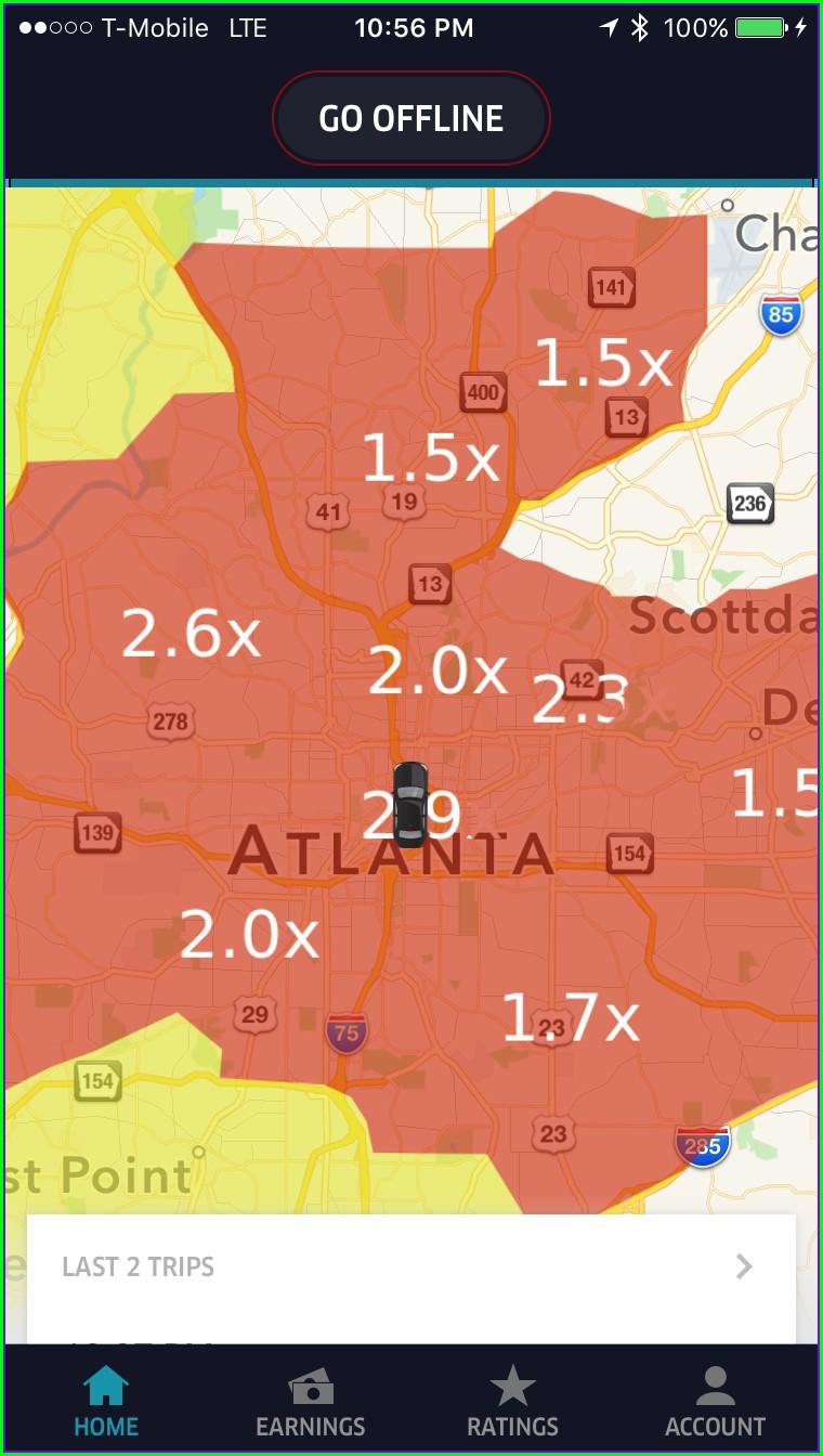 Uber Surge Map Atlanta