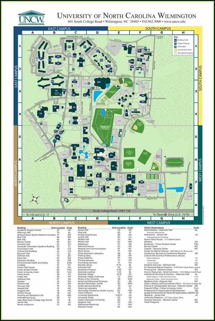 Uncw Campus Map Osprey Hall