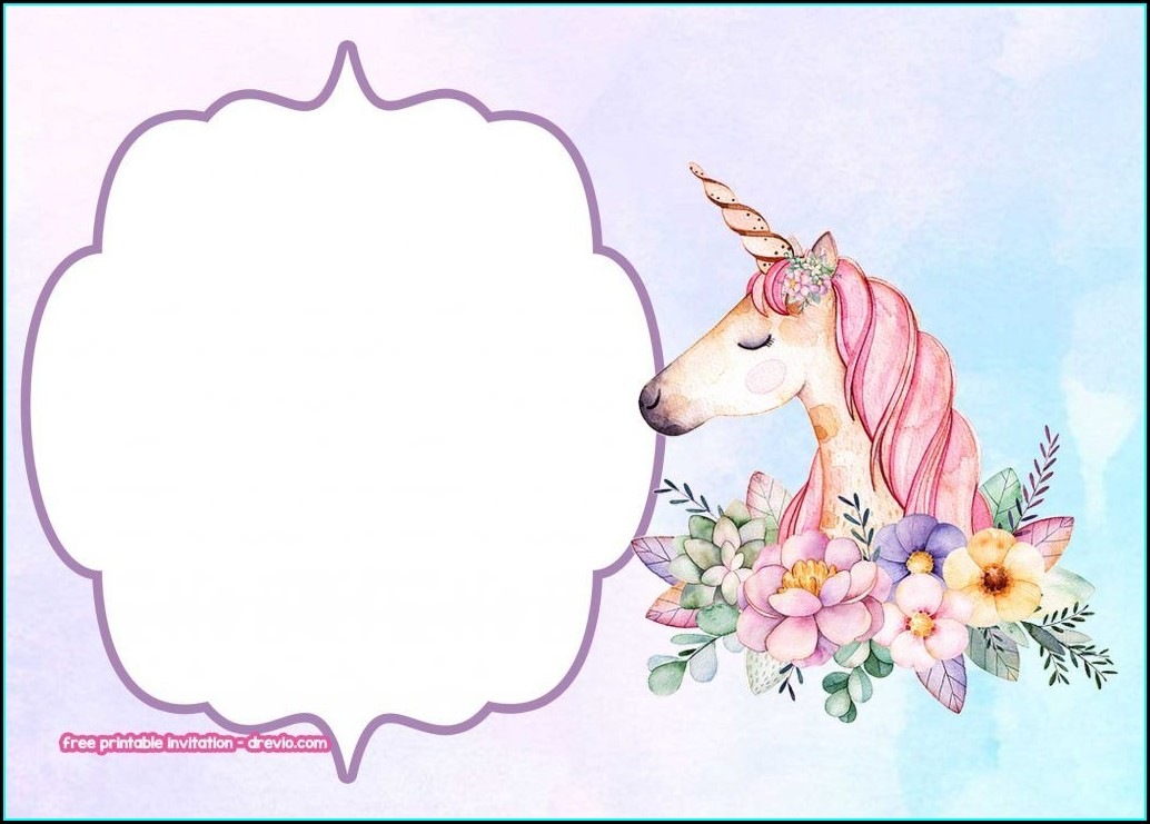 Unicorn Background Design For Invitation