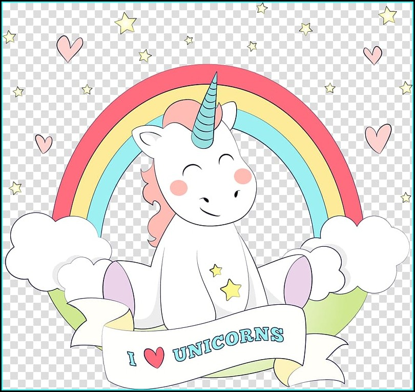 Unicorn Invitation Background Png