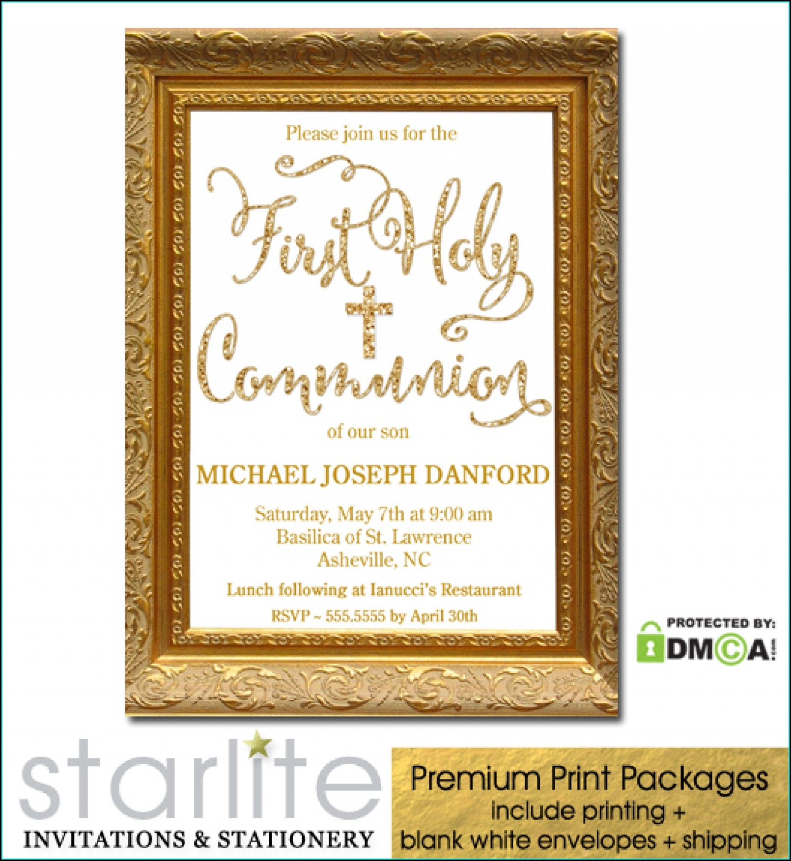 Unique First Communion Invitations