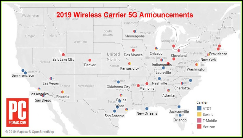 United States Verizon 5g Coverage Map