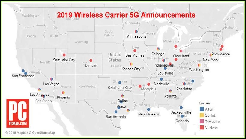 United States Verizon 5g Coverage Map