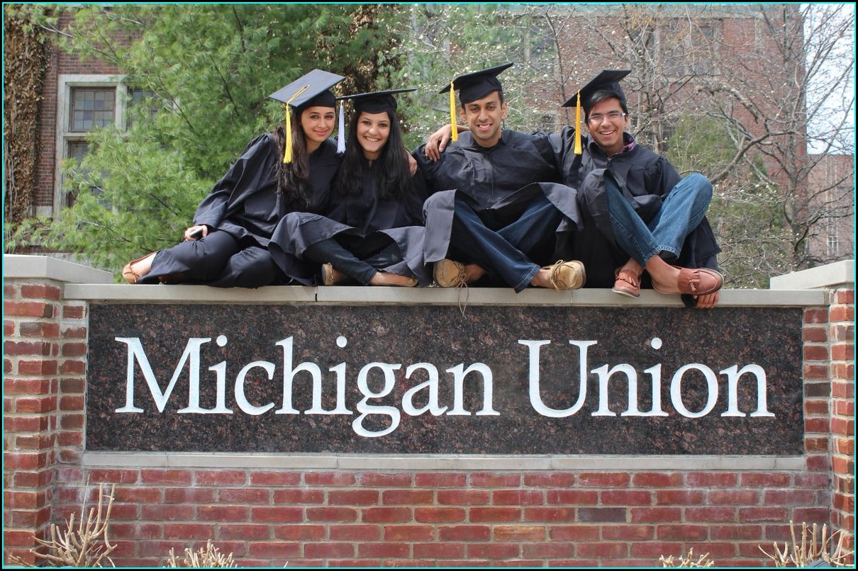University Of Michigan Graduation Invitations