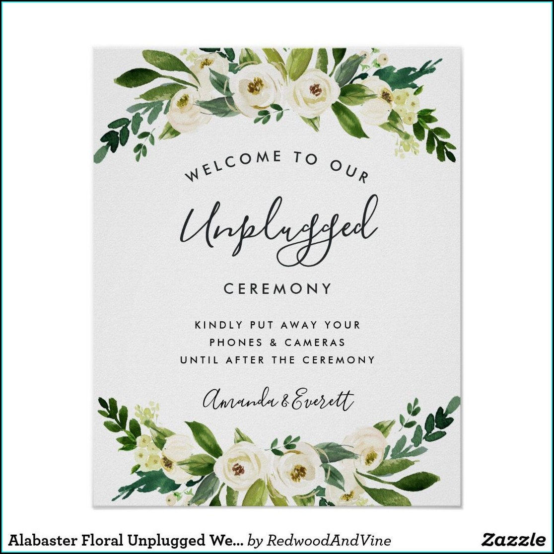 Unplugged Wedding Invitation Wording