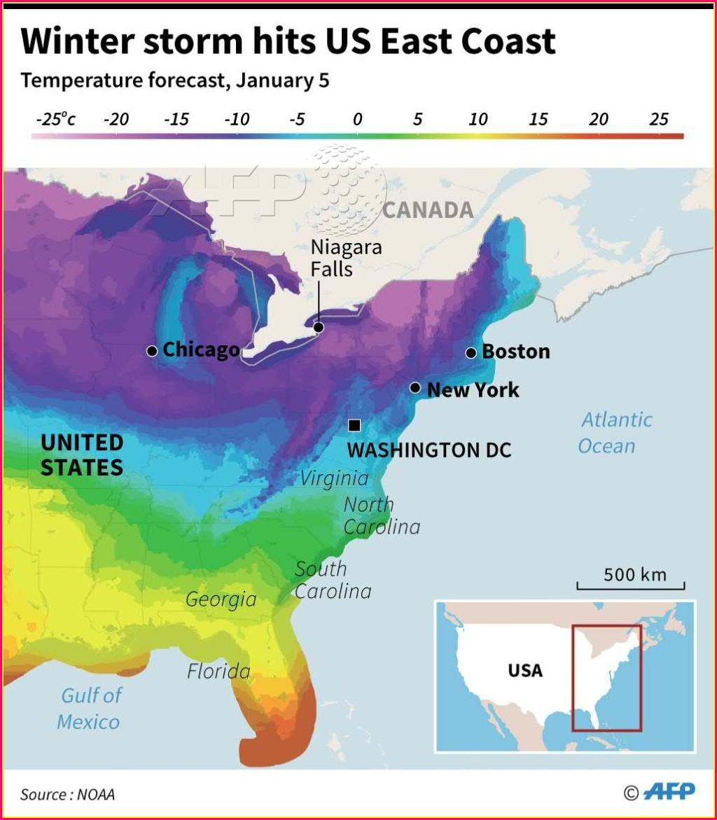 Us Temperature Map Forecast