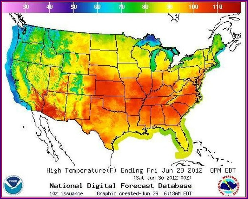 Us Weather Map Today Temperature