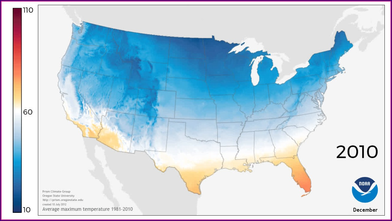 Us Weather Temperature Map In Celsius