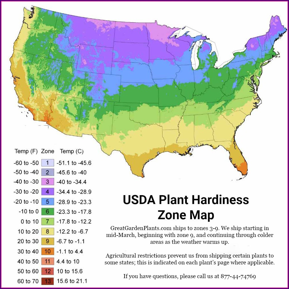 Usda Plant Hardiness Zone Map Canada