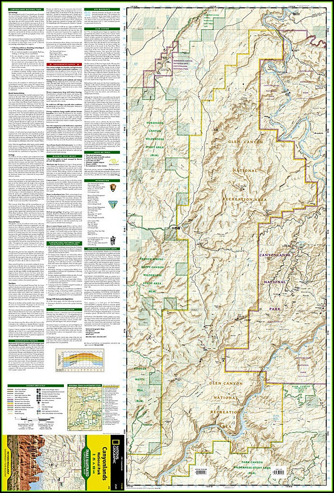 Utah Canyonlands National Park Map