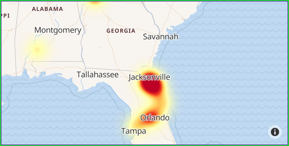 Uverse Outage Map Jacksonville Fl
