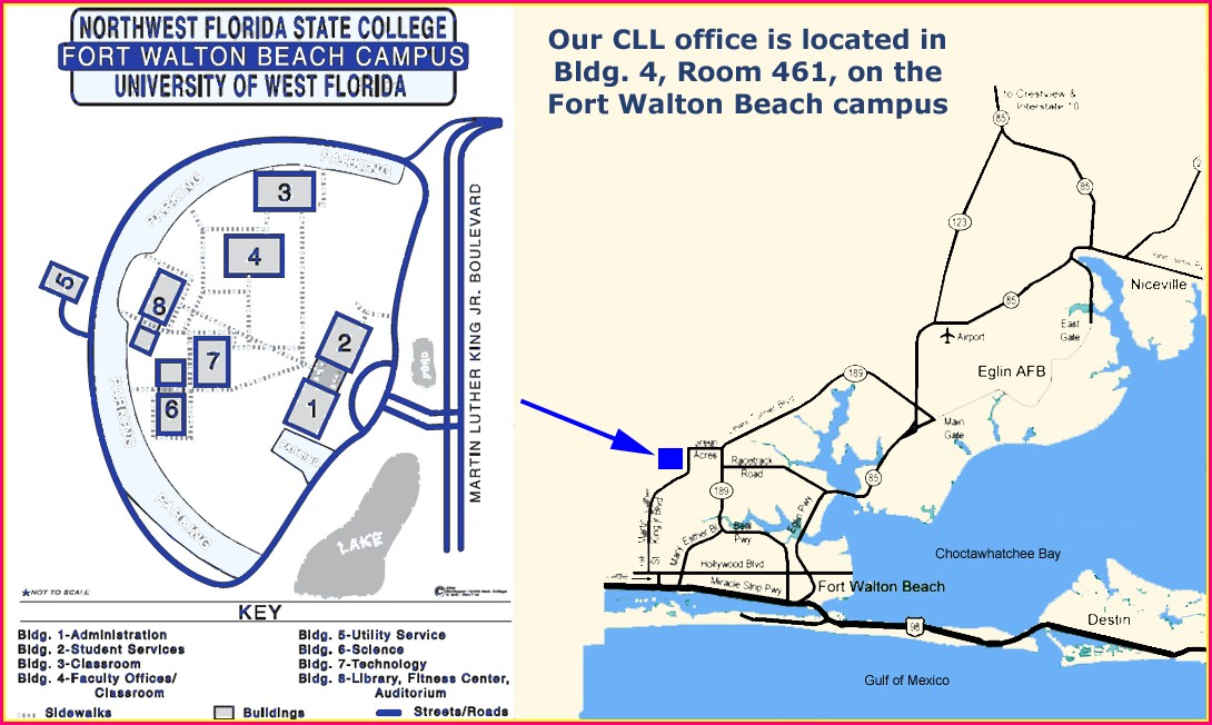 Uwf Campus Map Pensacola Fl