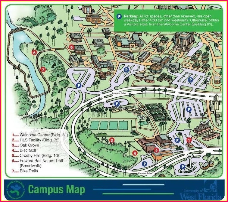 Uwf Campus Map With Building Numbers