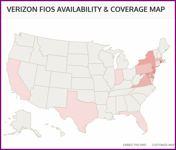 Verizon Fios Map Virginia