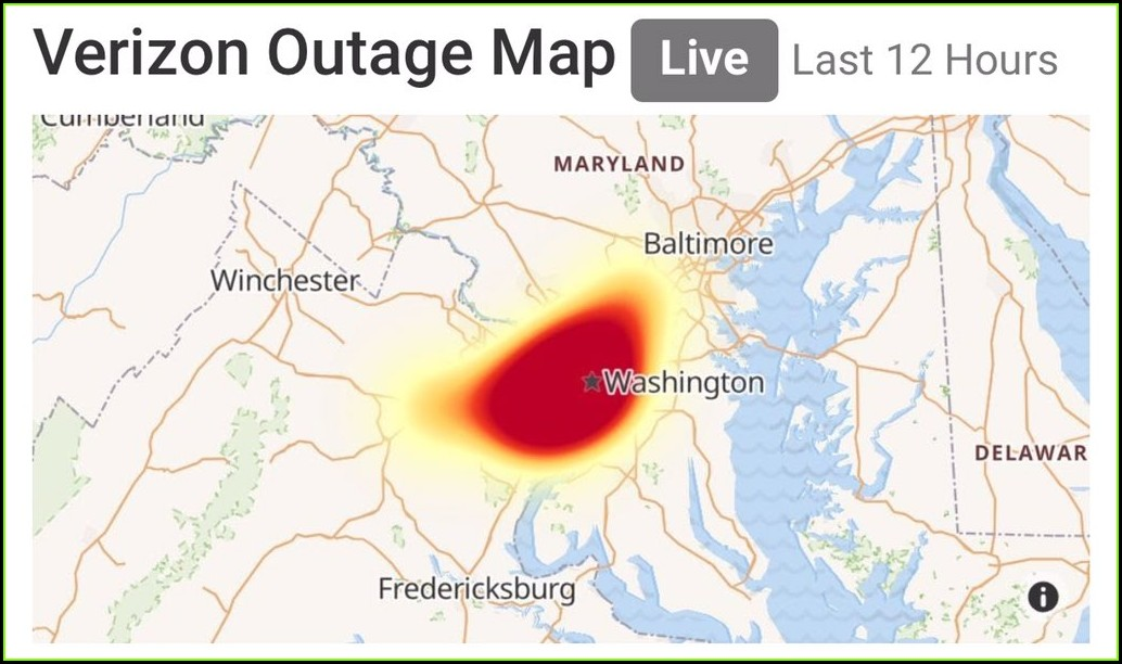 Verizon Fios Outage Map