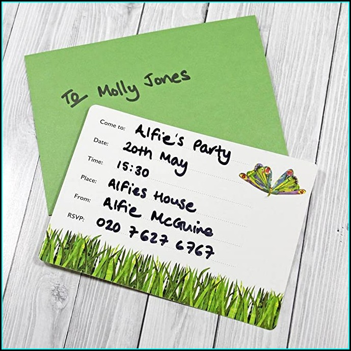 Very Hungry Caterpillar Online Invitations