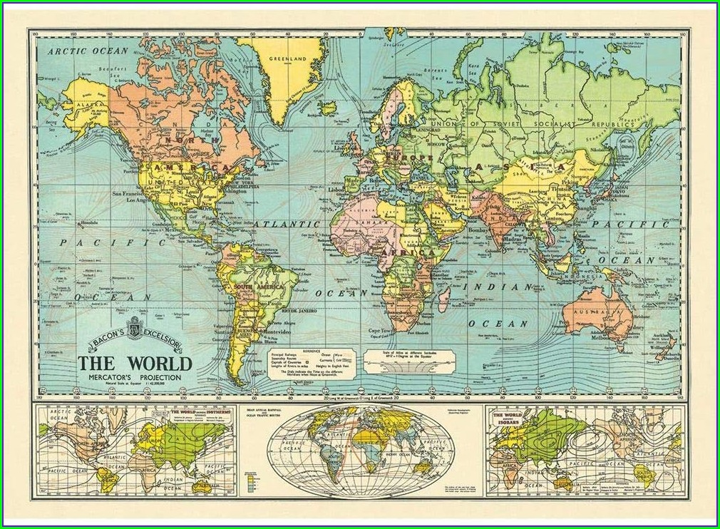 Vintage Map Wrapping Paper Uk