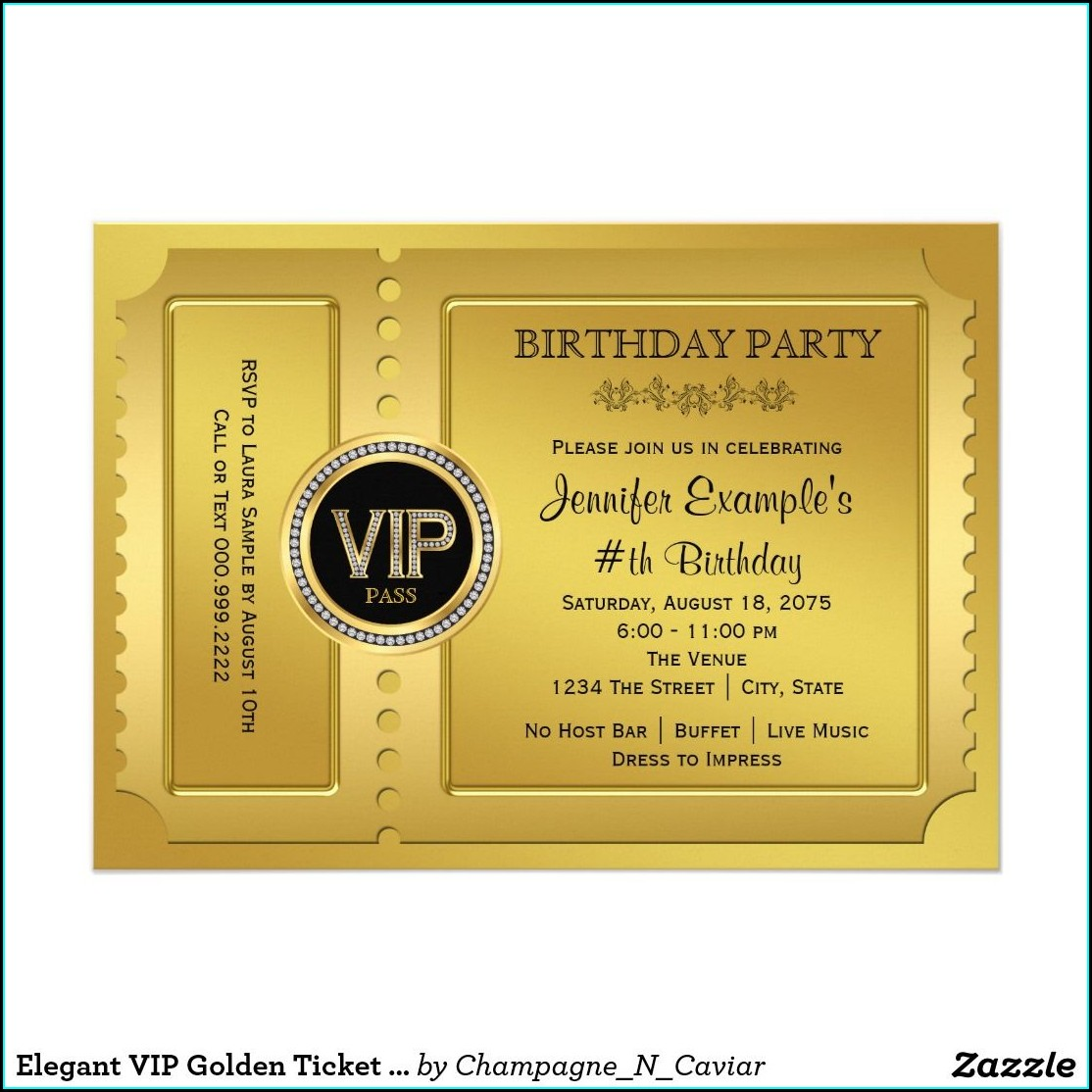Vip Pass Wedding Invitations