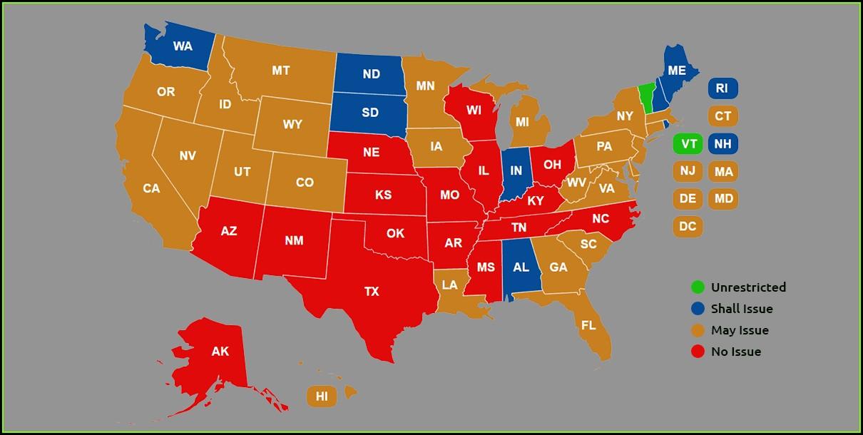 Virginia Ccw Reciprocity Map