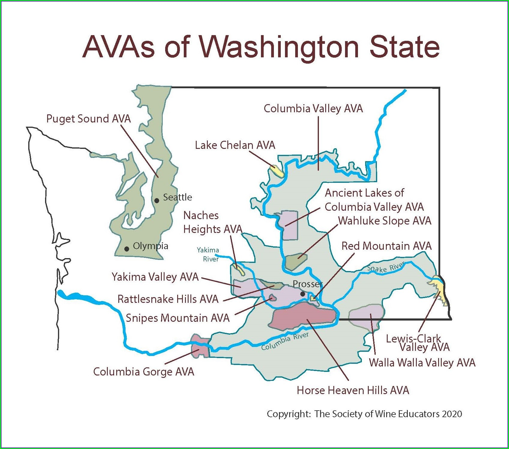 Walla Walla Winery Map Printable