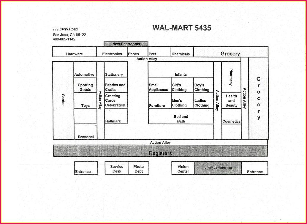 Walmart Supercenter Walmart Aisle Map