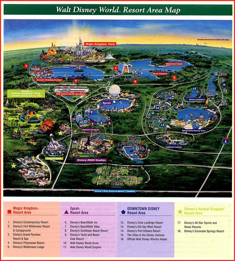 Walt Disney World Caribbean Beach Resort Map