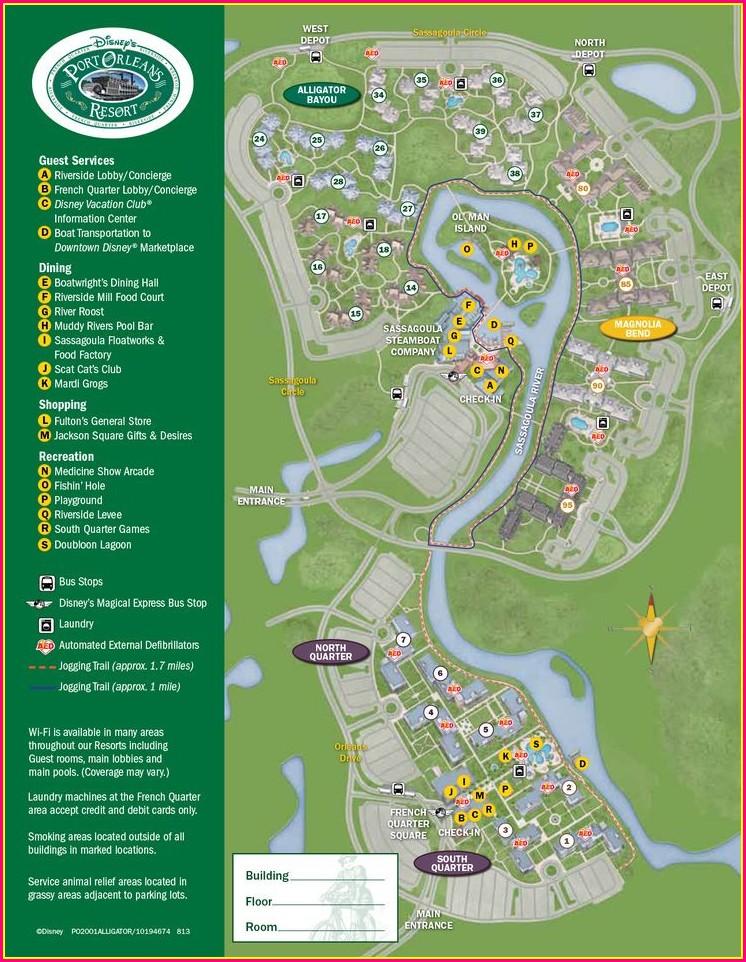 Walt Disney World Resort Hotels Map
