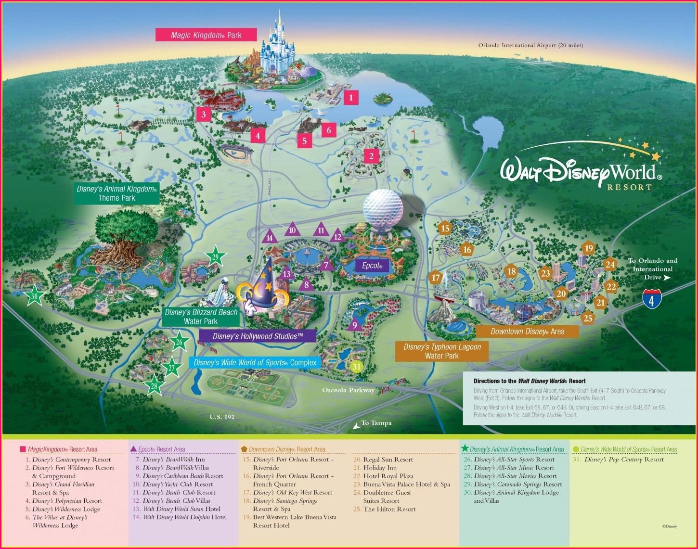 Walt Disney World Resort Map Pdf