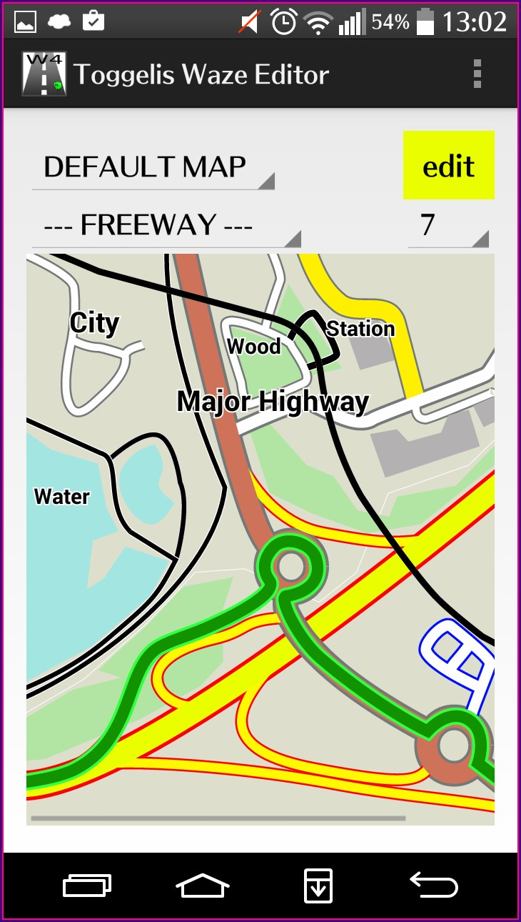 Waze Map Editor Colors