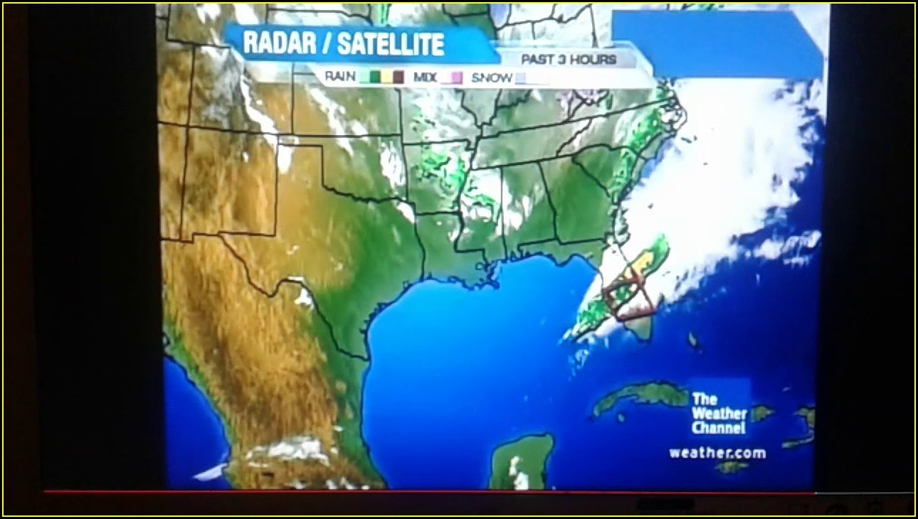 Weather Channel Radar Map Not Working