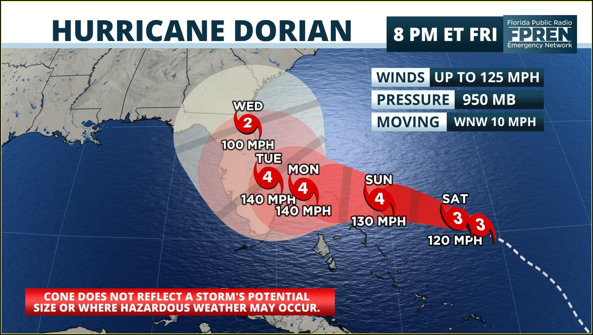 Weather Map Florida Dorian
