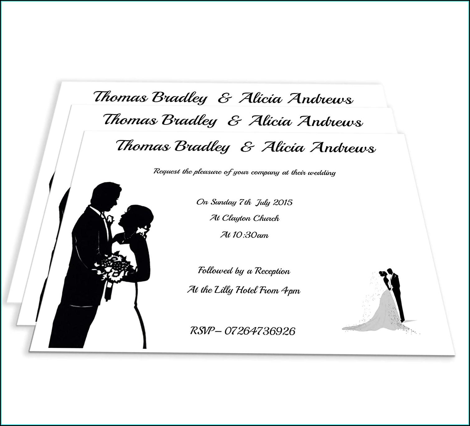 Wedding Evening Invitations Postcard Style