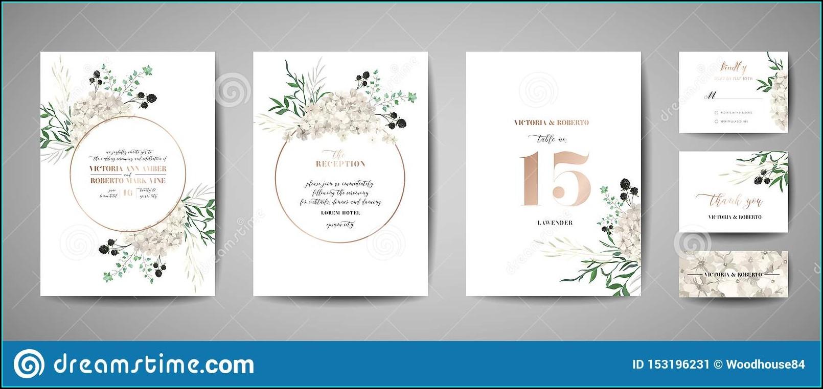 Wedding Invitation Card Rustic Design