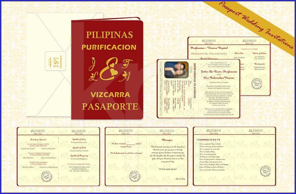 Wedding Invitation Passport Design Philippines