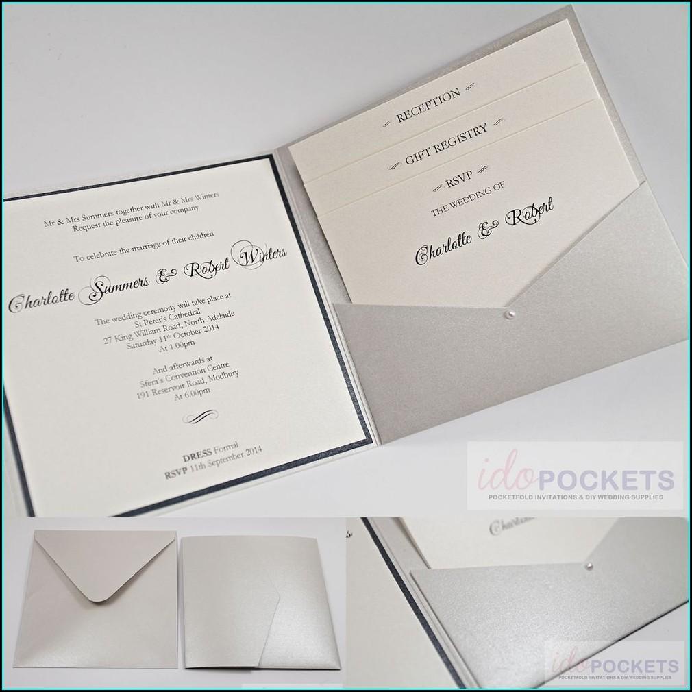 Wedding Invitation Sleeve Pocket