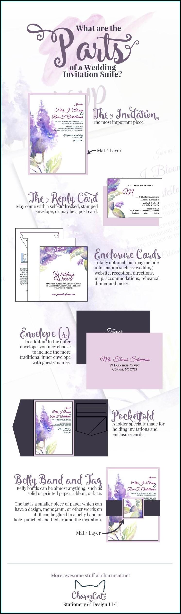 Wedding Invitation Suite Components