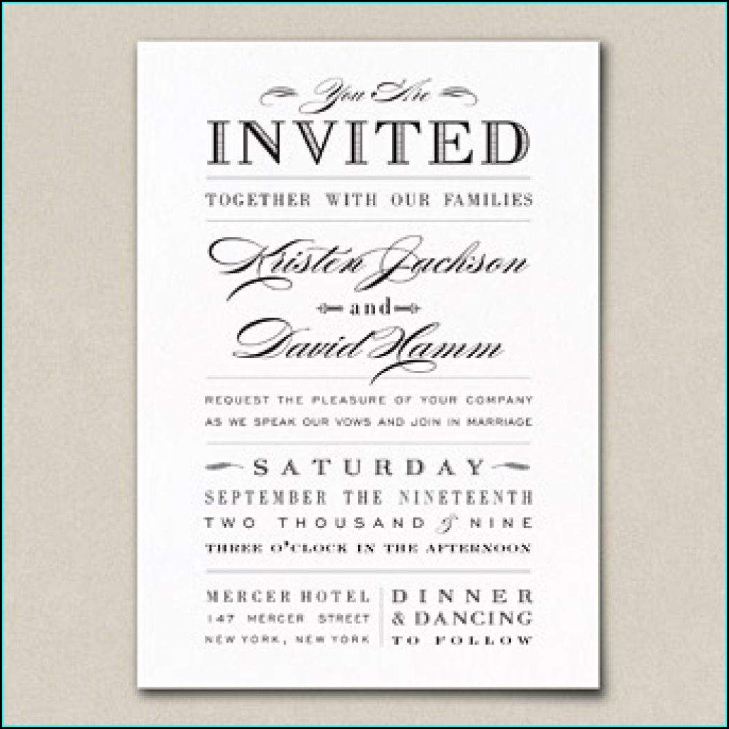 Wedding Invitation Wording For Older Couples