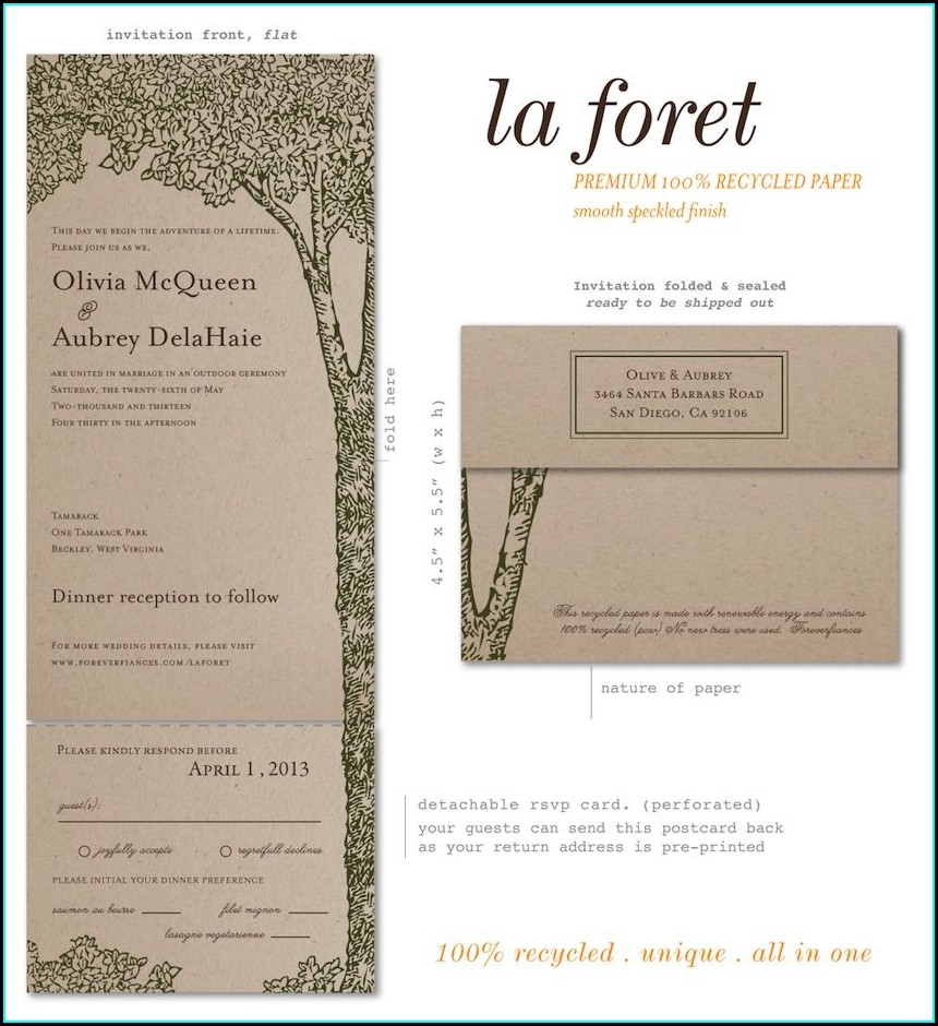 Wedding Invitations Recycled Brown Paper
