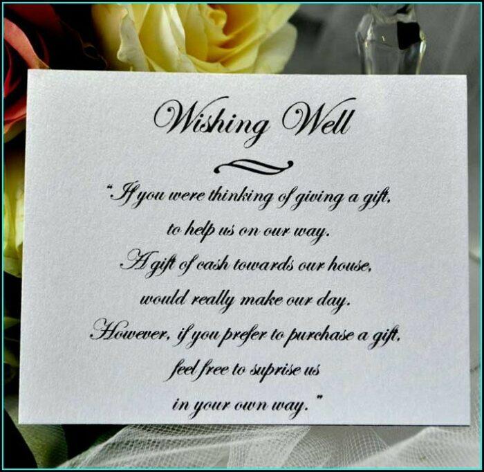 Wedding Invite Wishing Well Wording