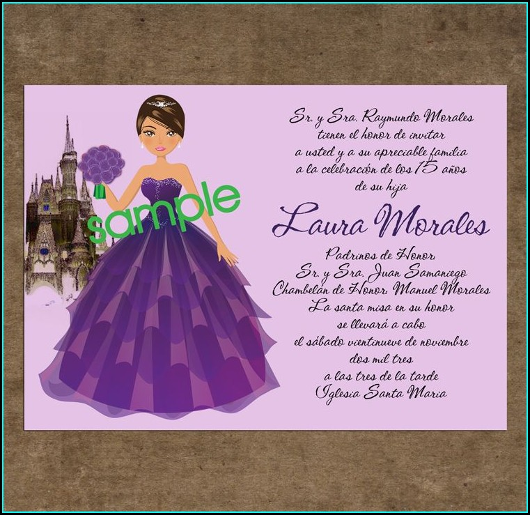 What To Write On A Quinceanera Invitation In Spanish