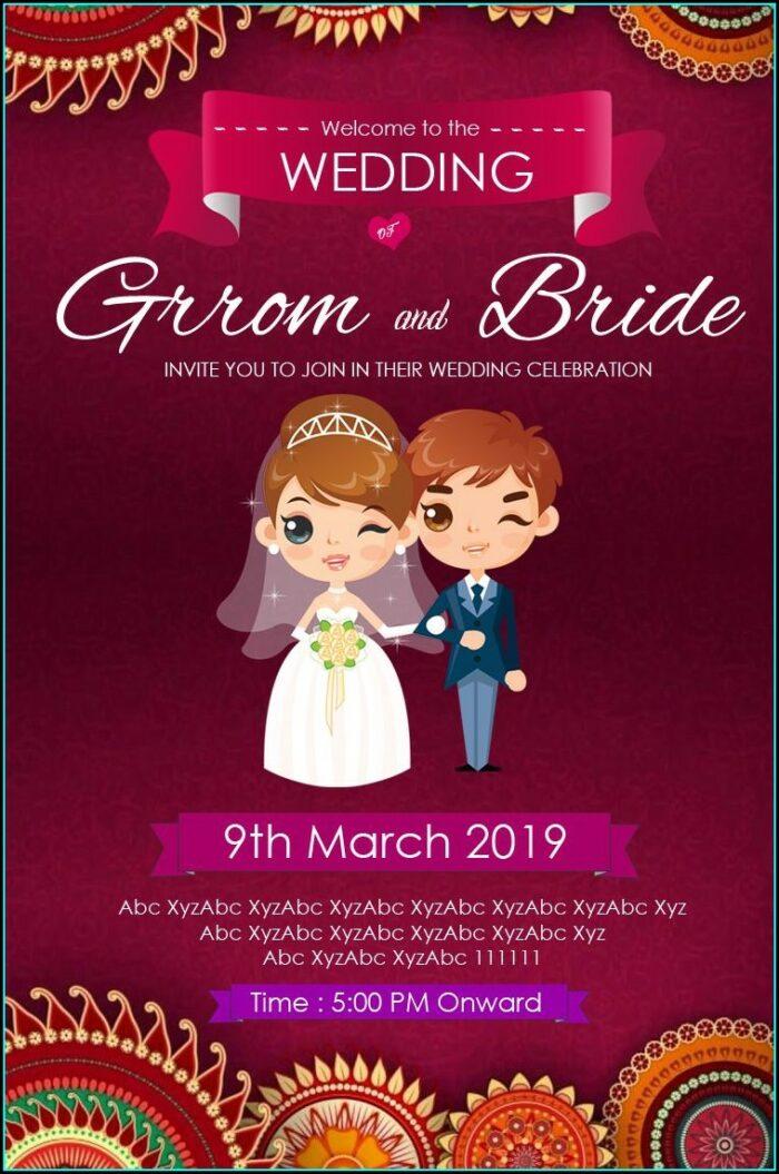 Whatsapp Wedding Invitation Card Template