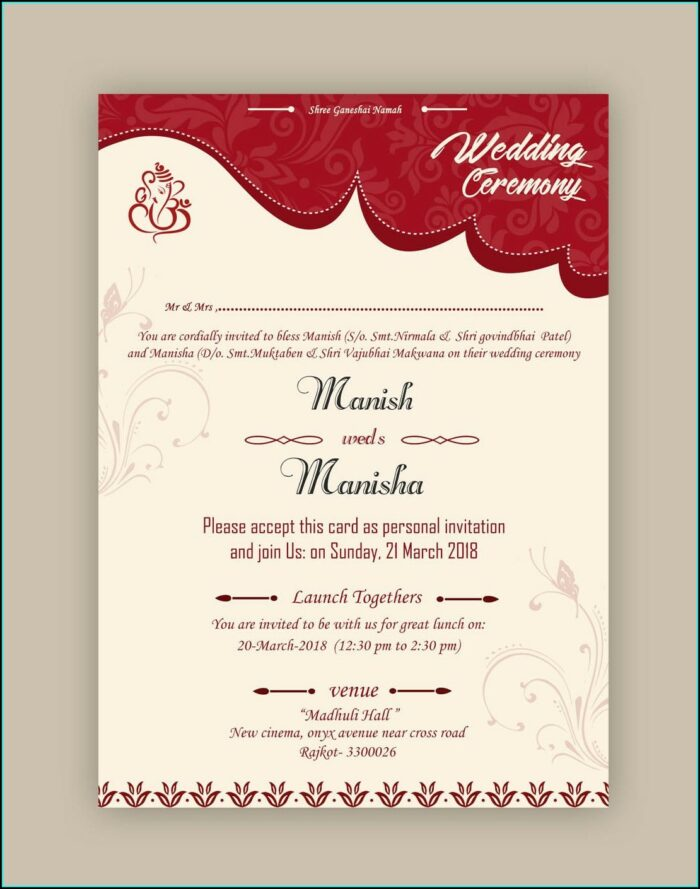 Whatsapp Wedding Invitation Card Template Psd