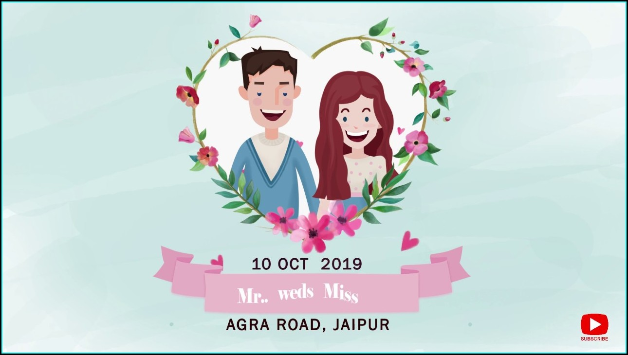 Whatsapp Wedding Invitation Templates After Effects