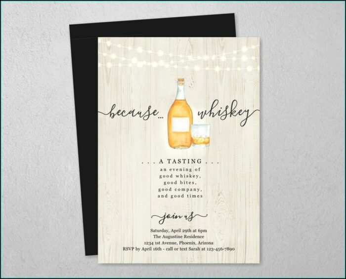 Whiskey Tasting Invitation Template