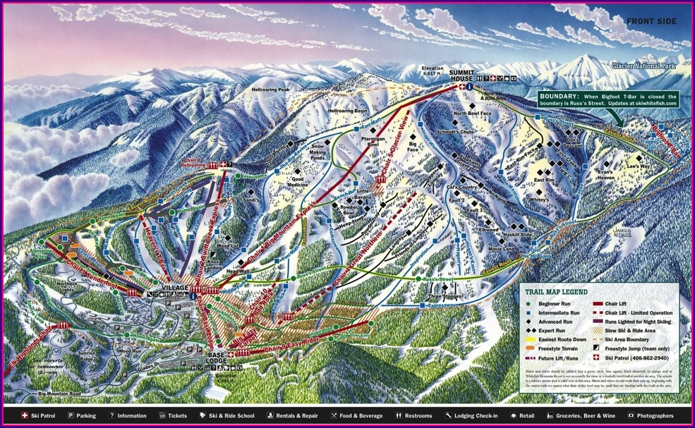 Whitefish Montana Trail Map
