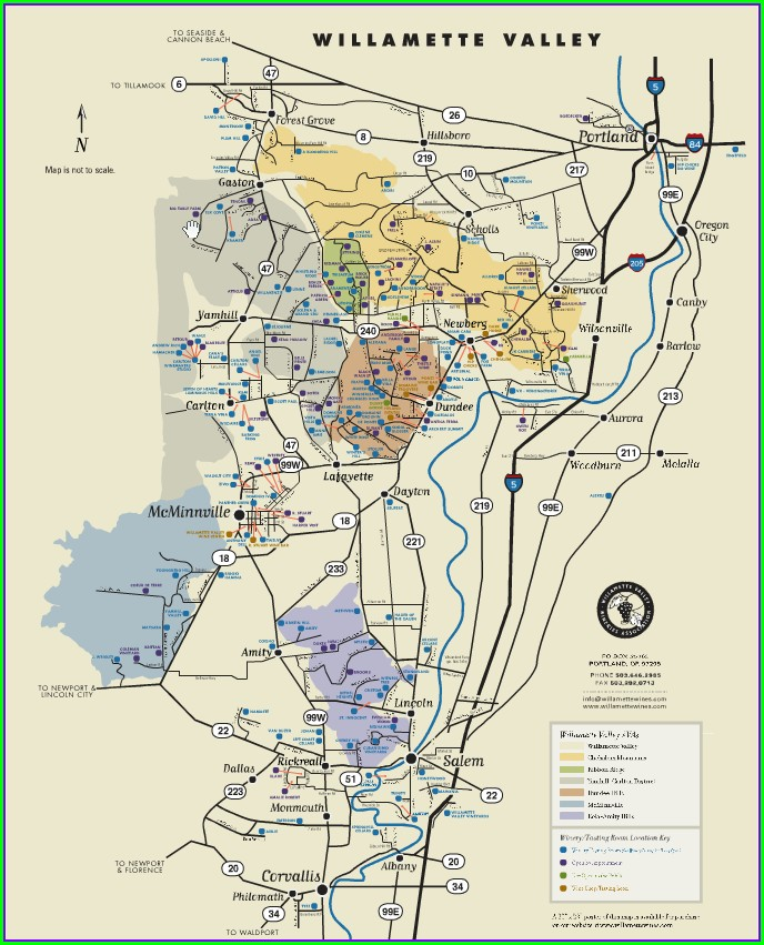 Willamette Valley Wineries Map Pdf
